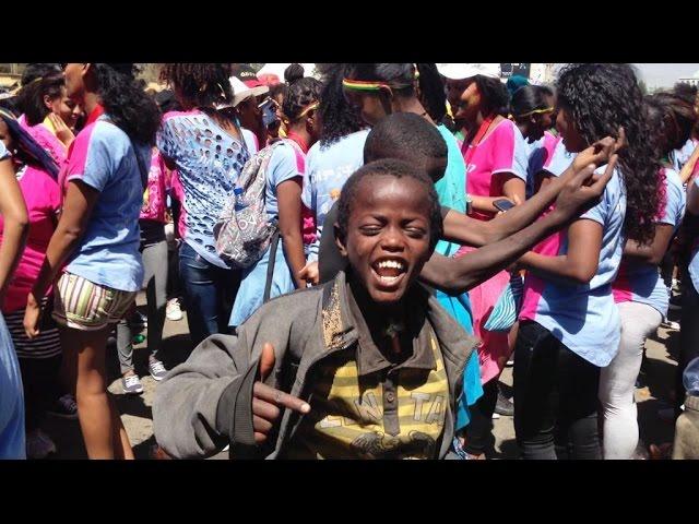 Talented Street Kids having fun Addis Ababa Ethiopia