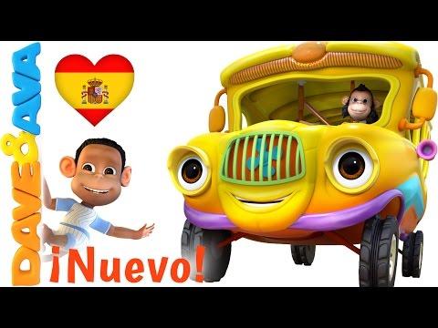 🚌 Las Ruedas del Autobús Parte 1   Canciones Infantiles de Dave y Ava 🚌