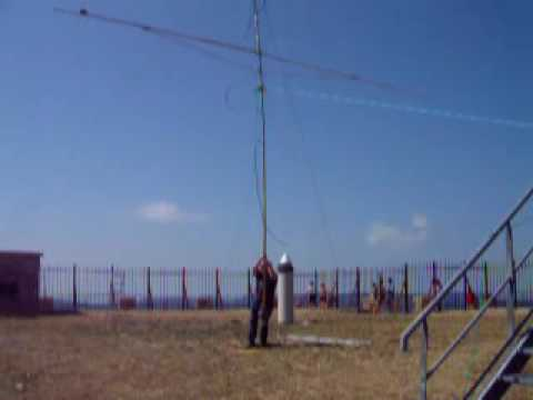 ham radio,vhf contest,mont aigoual ,1526 meters, jn14sc,2 x  17b2