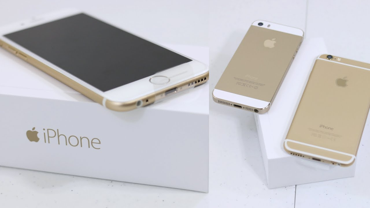 Iphone 5s Gold Unbox Iphone 6 Unboxing 64gb Gold