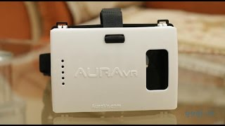 AuraVR review - plastic Virtual reality headset