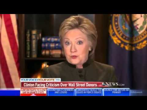 George Stephanopoulos Presses Clinton On Elizabeth Warren's Criticism On Bankruptcy Bill