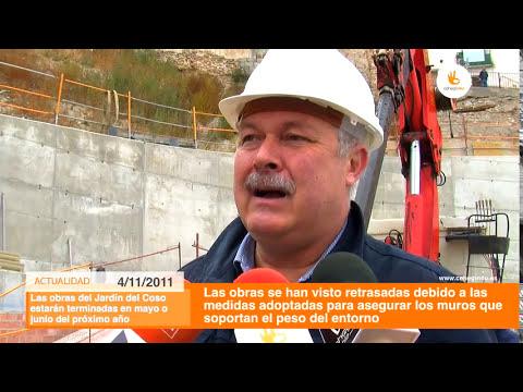 Las obras del Jardín de El Coso de Cehegín estarán acabadas en junio de 2012