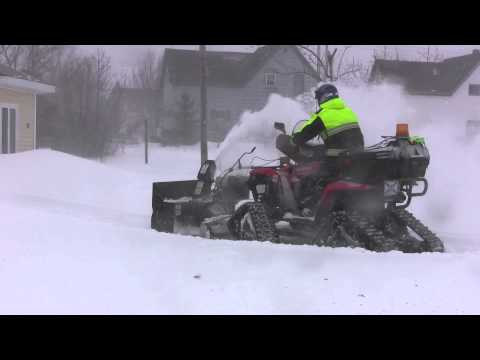 Snowblower ATV on Tracks