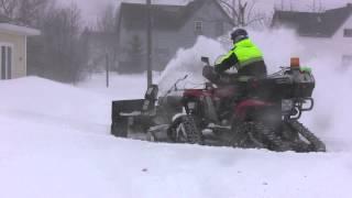 Snowblower ATV on Tracks