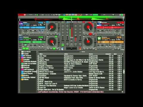 EDM - Virtual DJ 8 NEW 2016 Electro house Mix (4 DECKS)