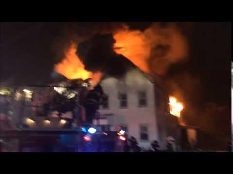 3-alarm fire destroys 2 Mass. homes