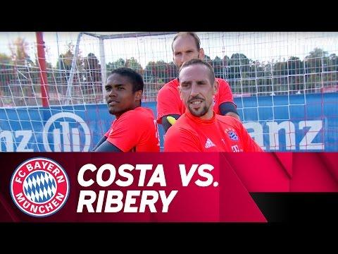 Costa vs. Ribéry   Penalty-Challenge   Part 1
