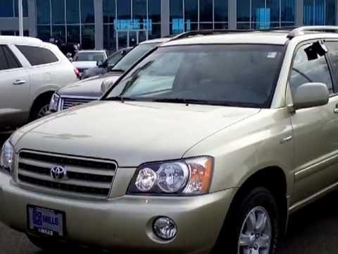 2003 Toyota Highlander Limited V6 4wd Youtube
