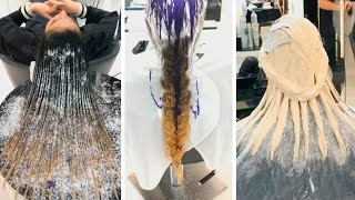 Check Out Their Hair After This! Hair color transformation by @mouniiiir