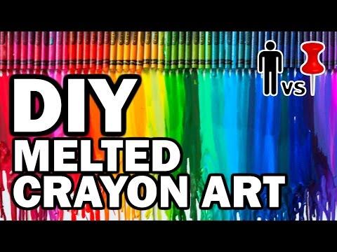 DIY Melted Crayon Art - Man Vs Pin - Pinterest Test #59