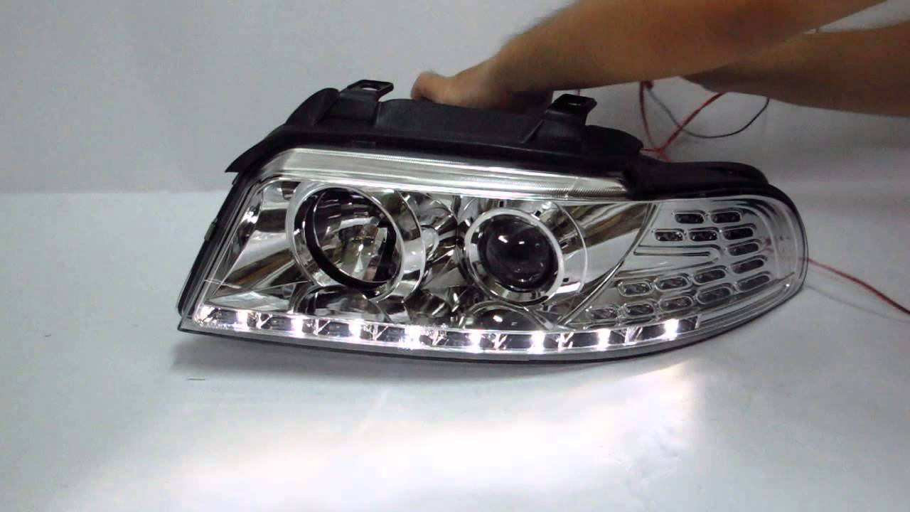 A4 S4 1994 2001 B5 8d Projector Led R8 Headlight W Amber