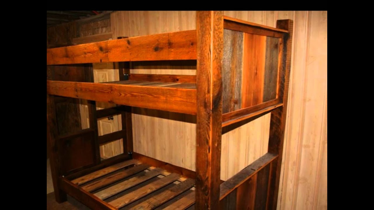 rustic bunk bed plans