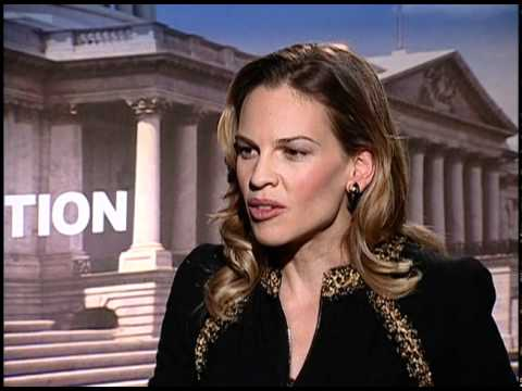 Hillary Swank and Sam Rockwell intervicw for Conviction