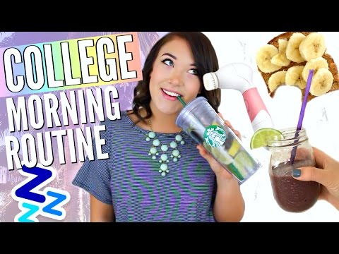College Morning Routine // DIY Detox Water, Skincare Routine, Makeup, Hair, & Outfit! | Cicily Boone