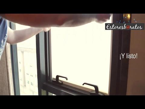 Cortina Plisada encastrable | incrustada en la ventana | Estores baratos .com