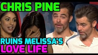 Chris Pine & Zachary Quinto tease presenter Melissa about her date!