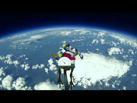Запуск курицы в стратосферу, на высоту 30 км.