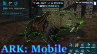 DOUBLE SABERTOOTH TAMING! ANDROID NEWS! Ark: Mobile Episode 15
