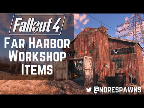 Fallout 4 Far Harbor - New Workshop Items Overview