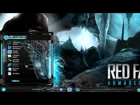 Tema Windows 7 Red Faction e icon Alienware inspired