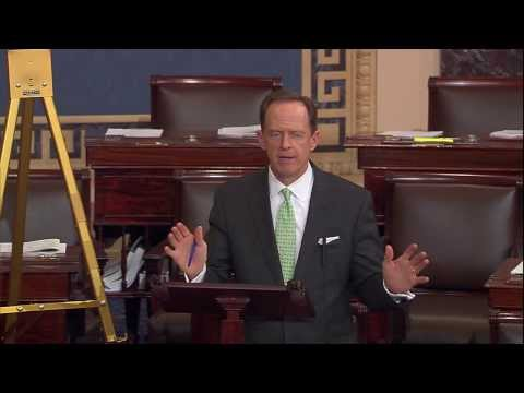 Sen. Pat Toomey discusses flood insurance on the Senate floor