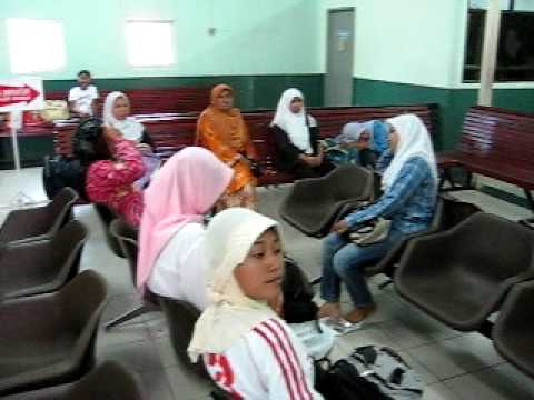 Muslim ladies in the boat terminal in Brunei, Southeast Asia