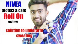 Solution for underarm sweating || Nivea protect and care roll on review