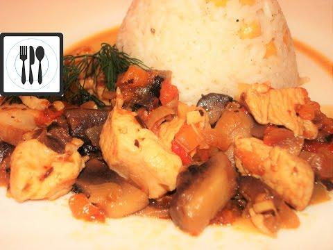 Кавурма - жареная курица с грибами по-турецки. Тавук кавурма/Tavuk kavurma tarifi