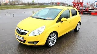 2008 Opel Corsa. Start Up, Engine, and In Depth Tour.