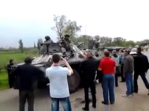05/02/14 SLAVYANSK, Ukraine, Truth, Ясногорка 02 05 14 Полное видео наезда на человека