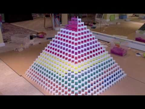 The Biggest 3D Domino Pyramid Ever - Made by me (3) 21x21