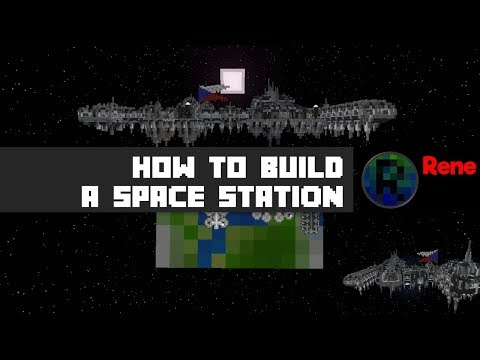 How to build your own CUSTOM Space Station! (Minecraft timelapse)