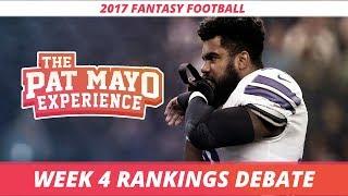 2017 Fantasy Football -  Week 4 Rankings Debate, Sleepers, Starts and Sits