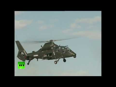 Video: China shows off homegrown helicopters
