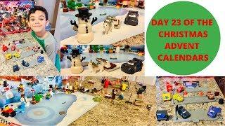 DAY 23 ON THE CHRISTMAS ADVENT CALENDARS LEGO,DISNEY CARS, HOT WHEEL