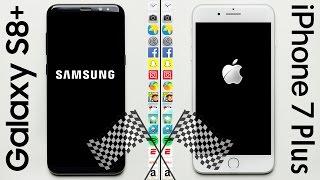 Galaxy S8+ vs. iPhone 7 Plus Speed Test