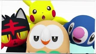 PIKACHU, ROWLET, LITTEN Y POPPLIO ANIMACION - Pokemon Sol y Luna -  The Yisus 21