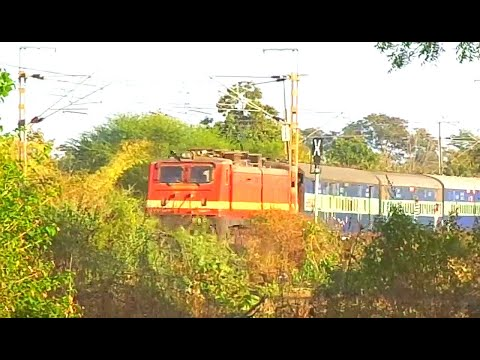 SRC Monster WAP-4 with 12384 Howrah-Ahmedabad Express on its...
