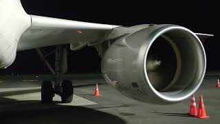 engine test of cambodia airways aircrafts.
