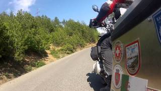 20 minutes continues turn  BMW R 1200 GS Fierze to Kukes    Albania 2012   GOPR1557