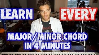 Learn EVERY Major or Minor Piano Chord in 4 Minutes