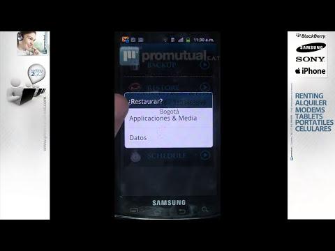 Como hacer la copia de seguridad o backup en ANDROID Samsung Galaxy Ace 5830 y otros