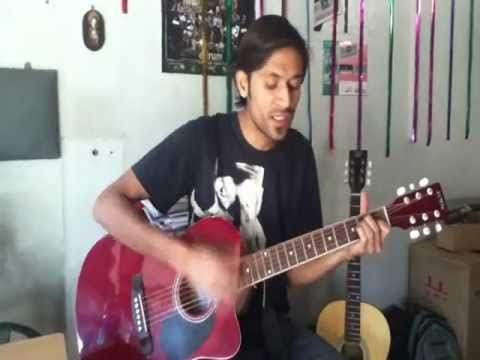 Rat Kali Ek Khwab Me Aayi on Guitar