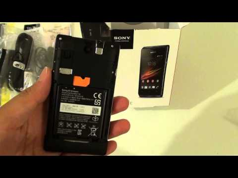 Sony Xperia E: How to Insert Micro SD Card