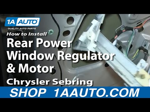 How To Install Replace Rear Power Window Regulator and Motor 2001-06 Chrysler Se