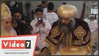 بالفيديو.. مراسم احتفال كنيسة دير سمعان فى المقطم بعيد الميلاد