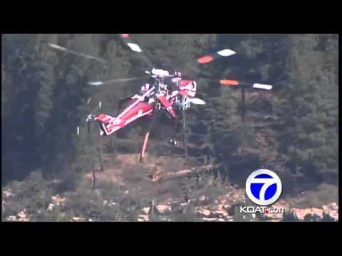 Sky 7 extended video over the Tres Lagunas fire