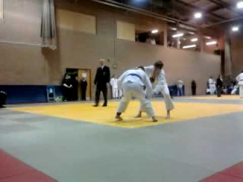 yoko wakare in competition semi final Littleport judo -73kg Image 1