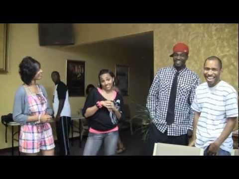 Erica Cumbo and Shawny Wright joking after Concert Together